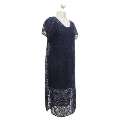 Set Gehaakte kanten blauwe jurk