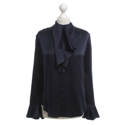 Ralph Lauren Zijden blouse in blauw