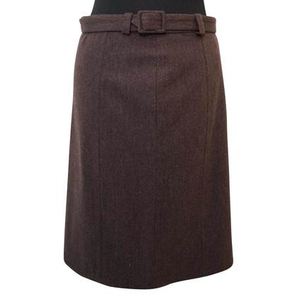 Chanel Brown Wool Skirt