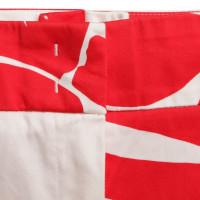 Escada Pantaloni in rosso / bianco