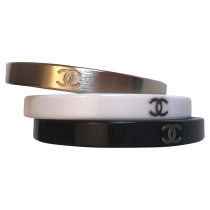 Chanel Bangles with logo