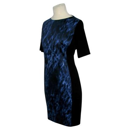 Tahari Jurk in Blue / zwart