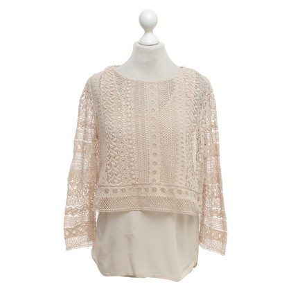 Maje Kanten top in nude