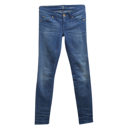 7 For All Mankind Skinny-Jeans in Blau