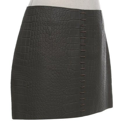 Alexander Wang Lederen Rok in Gray