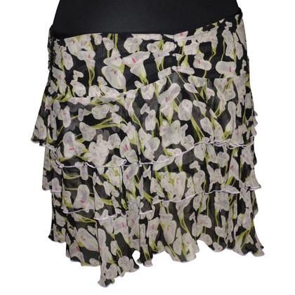 Diane von Furstenberg Silk skirt with floral print