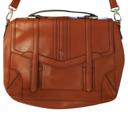 Aigner Briefcase in Cognac