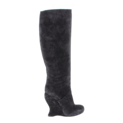 Bottega Veneta Velvet black boots