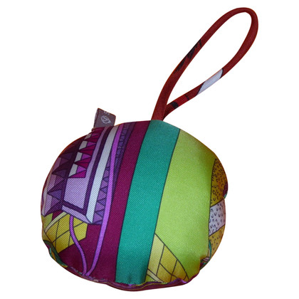 Hermès Taschenanhänger aus Seide