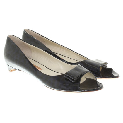 Rupert Sanderson Patent leather peep toes in blue
