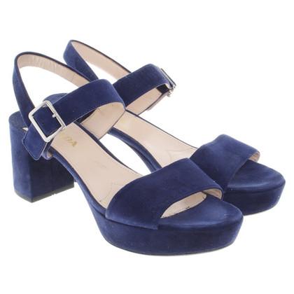 Prada Sandaletten in Blau