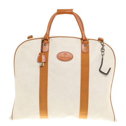 Mulberry Reisetasche in Creme