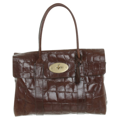 "Mulberry ""Bayswater Bag"" in embossed leather"