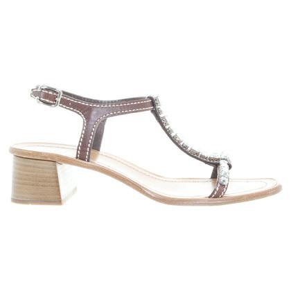 Prada Sandaletten mit Schmucksteinen