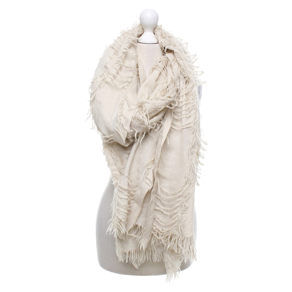 all saints scarf in beige buy second all saints