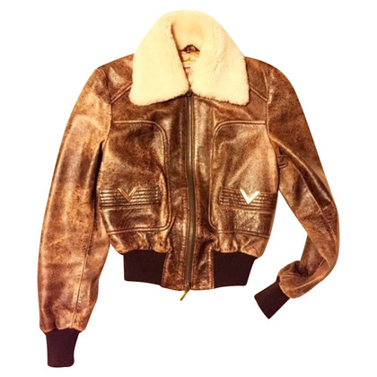 Red Valentino Aviator leather jacket