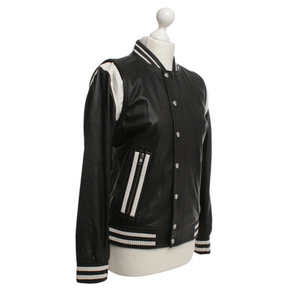 Iro Leather jacket in college jackets style