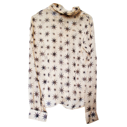 Moschino Silk blouse with stars
