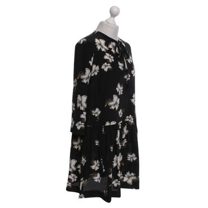 Rochas Robe en soie avec un motif floral
