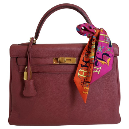 Hermès HERMES KELLY 32 TOGO ROSE GOLD HARDWARE