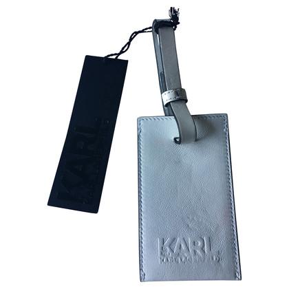 Karl Lagerfeld Address tag in white
