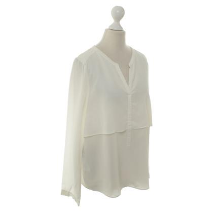 Comptoir des Cotonniers Zijden blouse in crème