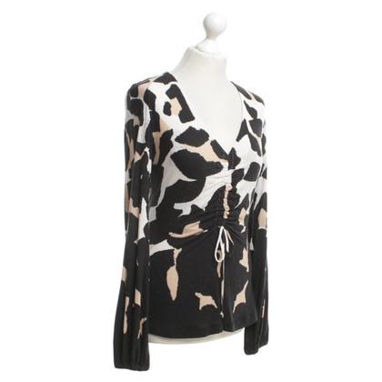 Roberto Cavalli top with leopard print
