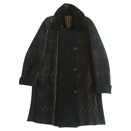 Agnona Cashmere coat with M size mink