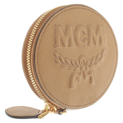 MCM Geldbörse in Beige