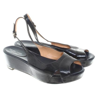 Sergio Rossi Platform Sandalen Patent Leather