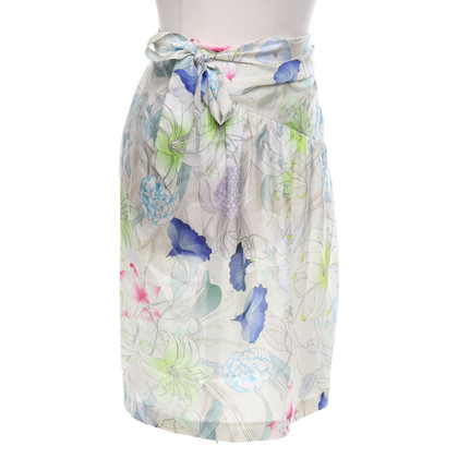 Dries van Noten skirt with a floral pattern