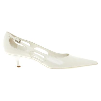 Prada pumps in white