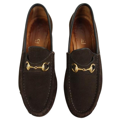 Gucci Mocassins en daim marron