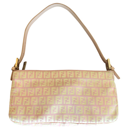 Fendi Pink and gold baguette