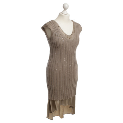 Brunello Cucinelli Strickkleid in Beige