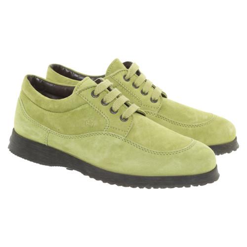 size 40 26084 6094f Hogan Scarpe stringate in Pelle scamosciata in Verde ...