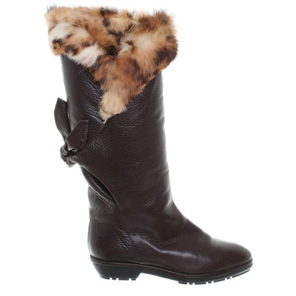 Baldinini Winter boots with fur