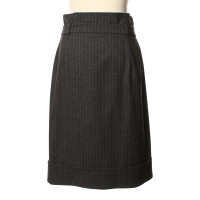 Max Mara Grey skirt with pin-stripe