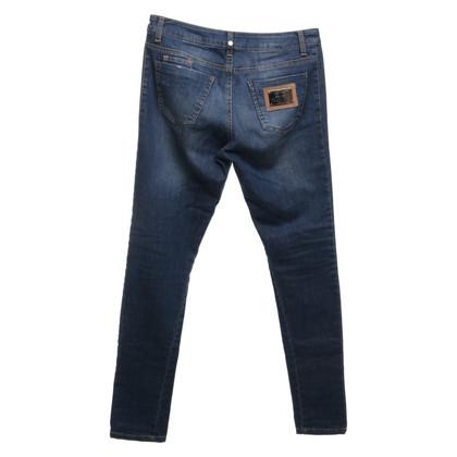 Elisabetta Franchi Boyfriend-Jeans im Used-Look