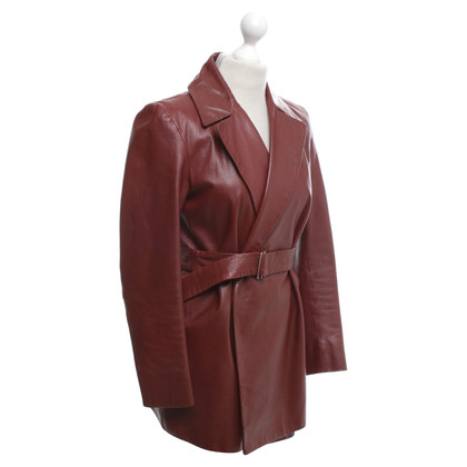 Jil Sander Leather jacket in Bordeaux