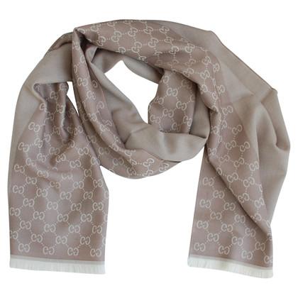 Gucci Monogram scarf in beige