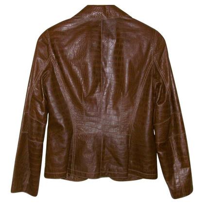 Luisa Cerano Patterned leather jacket