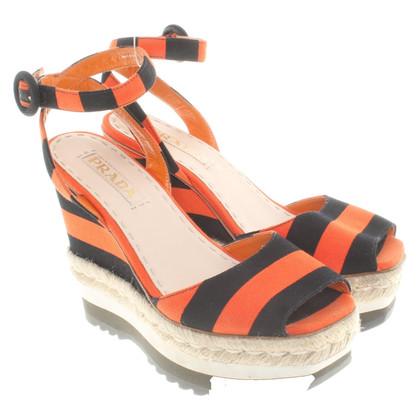 Prada Sandals with striped pattern