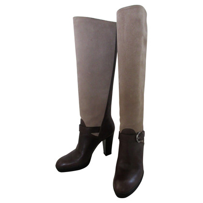 Hogan Wild and smooth leather boots