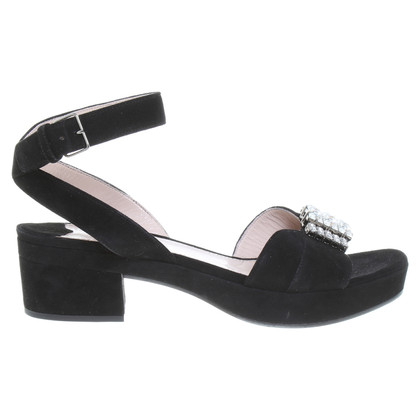 Miu Miu Platform sandal in black