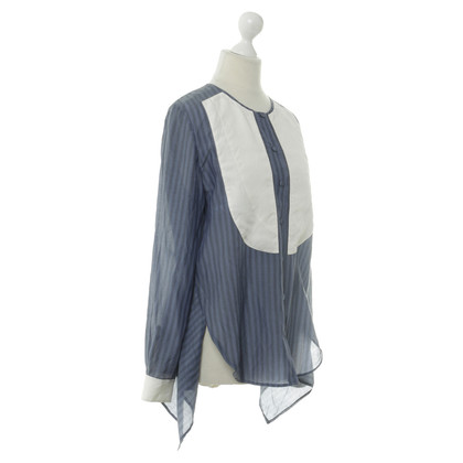 3.1 Phillip Lim Blouse in blauw en wit