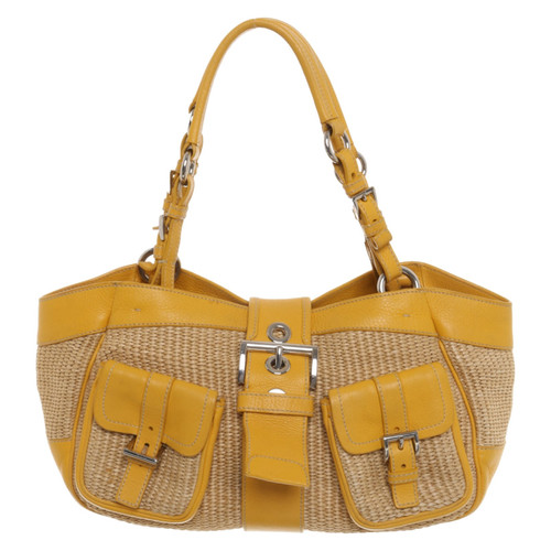 c9b21131987a Prada Handbag in Yellow - Second Hand Prada Handbag in Yellow buy ...