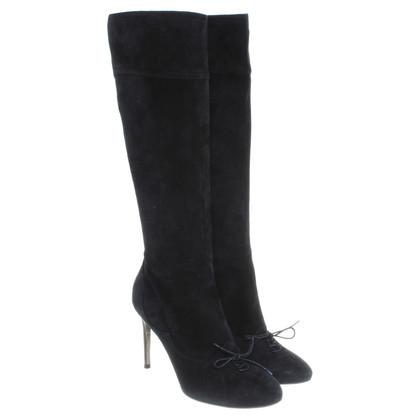 Dolce & Gabbana Suède laarzen in zwart
