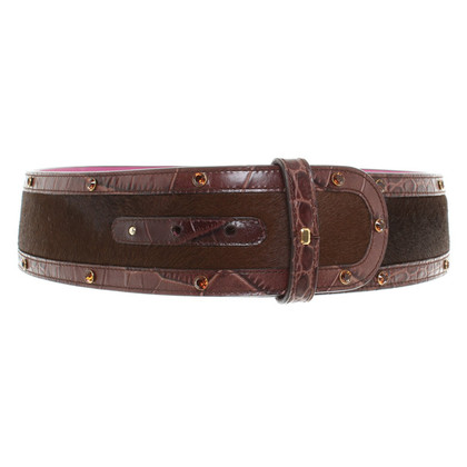 Escada Fur Belt in Brown