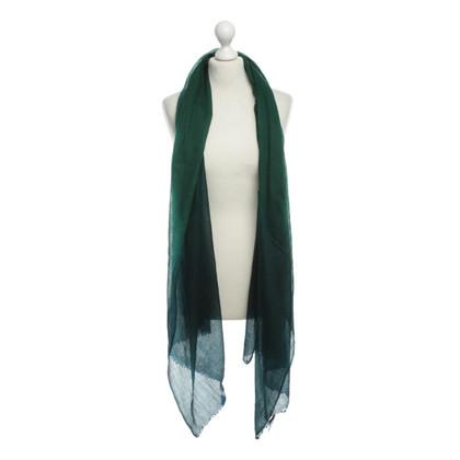 René Lezard Wool scarf with gradient